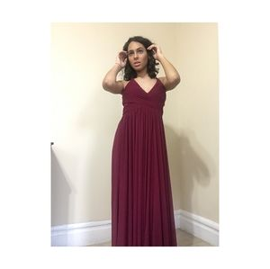Bridesmaid long red dress